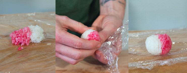 Comment façonner les sushi poskéball