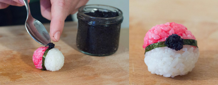Comment déposer les oeufs de lompe noirs sur la pokéball