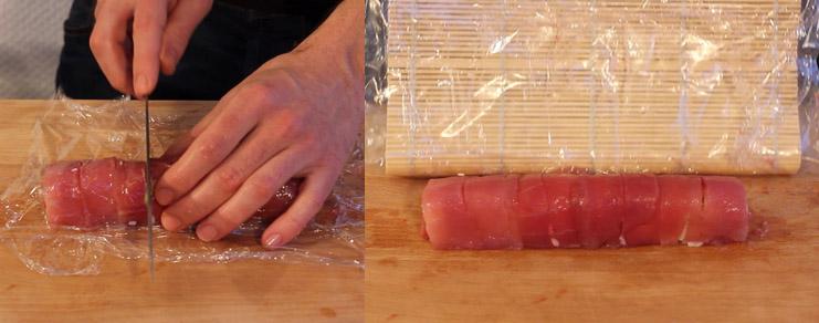 Découpe du sushi