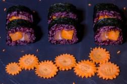 image une du sushi orange mécanique